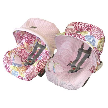 Itzy Ritzy Baby Ritzy Rider™ Infant Car Seat Cover - Fresh Bloom