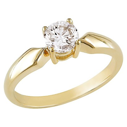 Diamond Solitaire Ring Yellow Gold