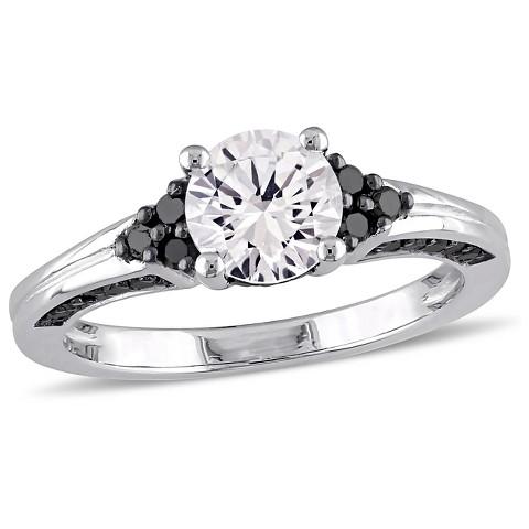 Black Diamondcreated White Sapphire Ring