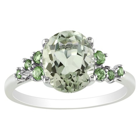 Green Amethyst Tsavorite Ring