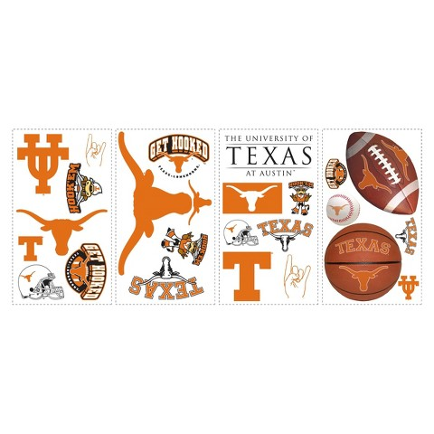 Roommates NCAA Texas Wall Decals