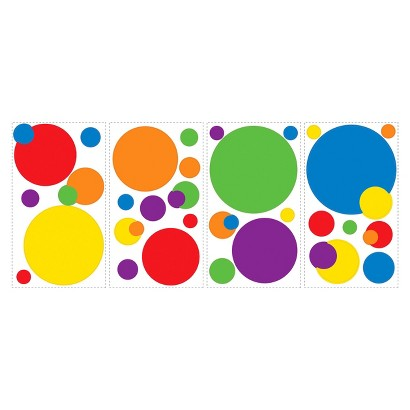 Roommates Primary Dots Wall Decals