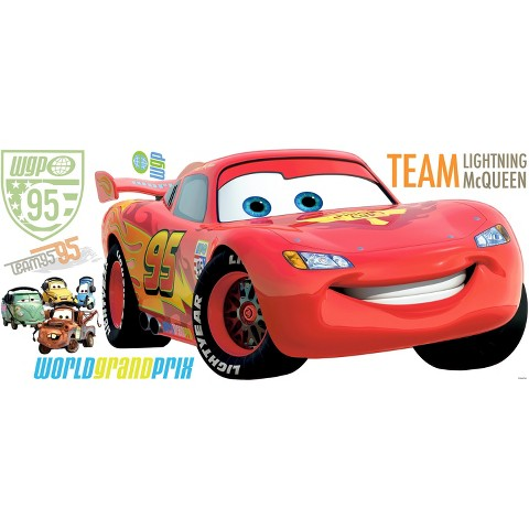 Roommates Cars 2 Giant Wall Decals