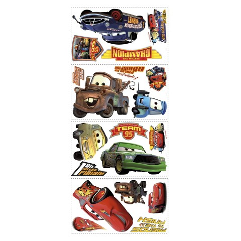 Roommates Cars 2 Wall Decals