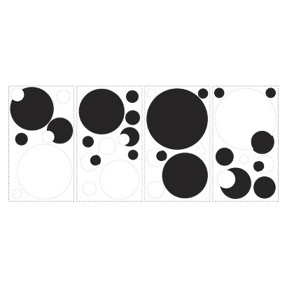 Roommates Black & White Dots Wall Decals