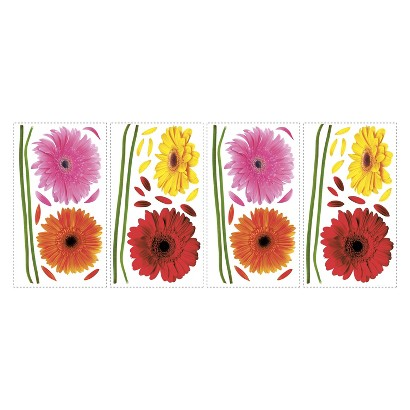 Roommates Small Gerber Daisy Wall Decals