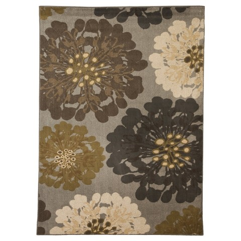 Mohawk Home Flowers Area Rug - Cocoa Praline