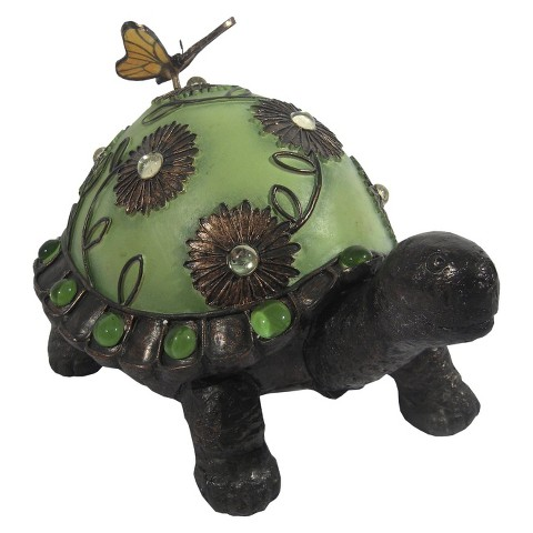 Jeweled Walking Turtle Statuary