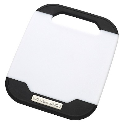 "KitchenAid® 8"" x 10"" Cutting Board - White/Black"