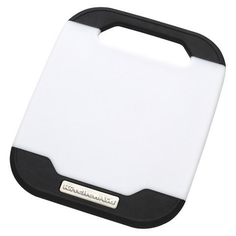 "KitchenAid® 8"" x 10"" Cutting Board - White/Black"
