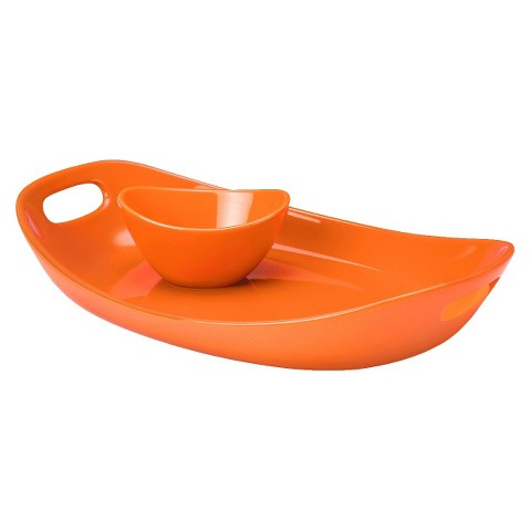 "Rachael Ray Serveware 14"" Serving Platter and Dipper Bowl"