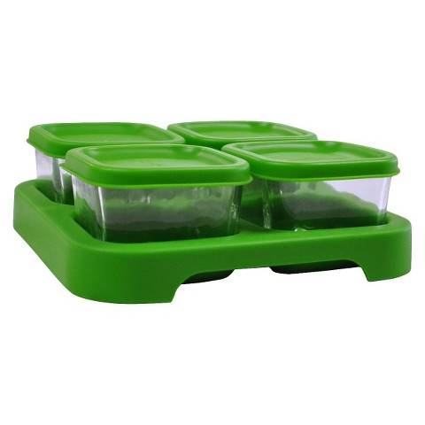 green sprouts® Baby Food Storage Glass Cube (4 Pack)