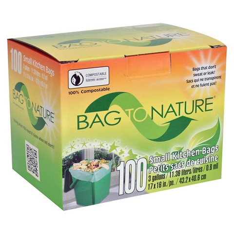 Bag to Nature Pink Leaf & Yard Waste Bags 3 Gallons 100 ct