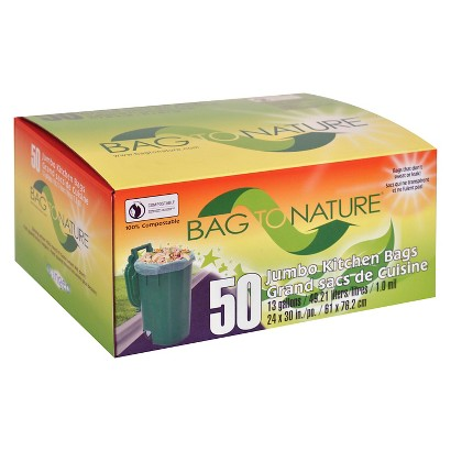 Bag to Nature Pink Leaf & Yard Waste Bags 13 Gallons 50 ct