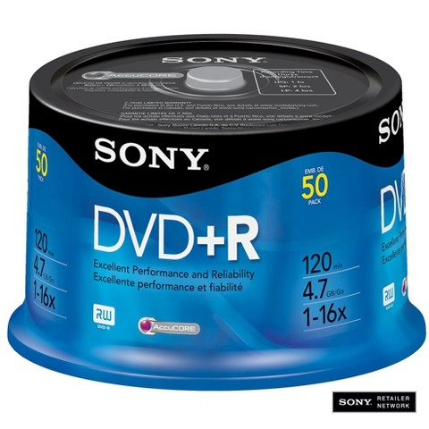 Sony DVD+R Spindle Disc Pack - 50-pk