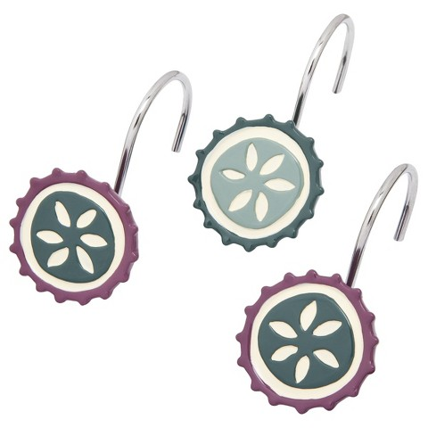 Circles Shower Curtain Hooks
