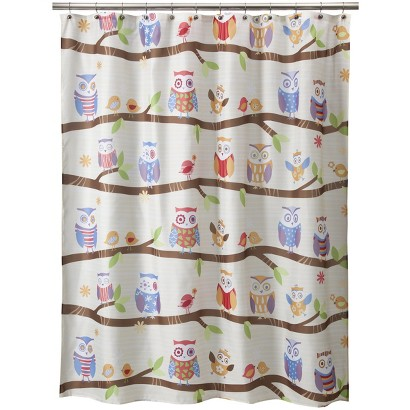 """Whoo Shower Curtain - 70x71"""""""