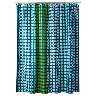 On A Dot Shower Curtain