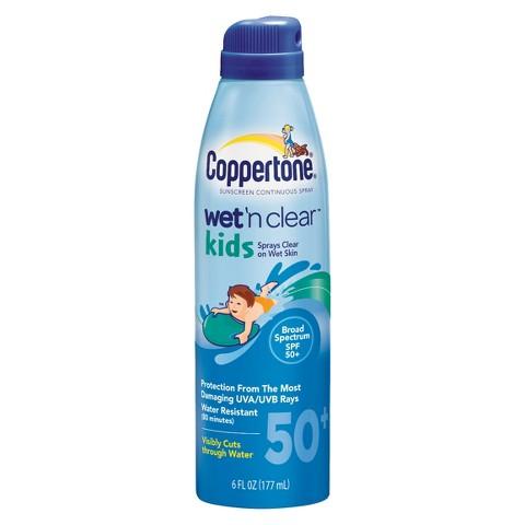 Coppertone Wet'n Clear Kids SPF 50+ Spray - 6 oz