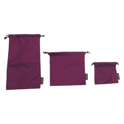 Embark Drawstring Pouches - Berry