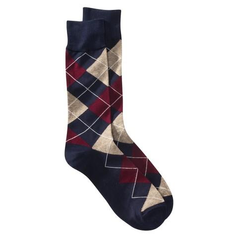Merona® Men's 1pk Socks - Argyle - Assorted Colors