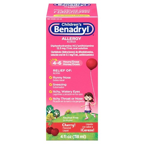 Benadryl Allergy Relief Cherry Liquid for Children