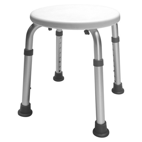Lumex Round Bath Stool - White