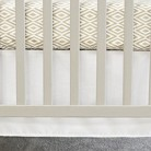 Oliver B Pure White Flat Panel Crib Skirt