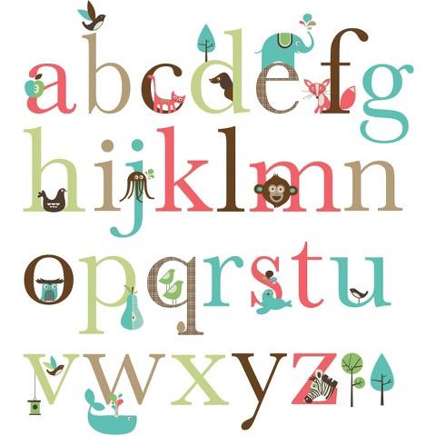 Skip Hop Wall Decals Alphabet Zoo