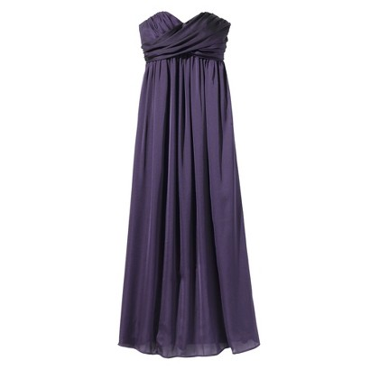 TEVOLIO™  Women's Satin Strapless Maxi Dress - Fashion Colors