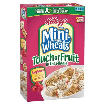 Kellogg's Frosted Mini-Wheats Raspberry with a Touch of Fruit in the Middle Cereal 15 oz