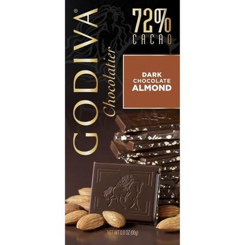 Godiva Chocolatier Dark Chocolate with Almonds 3.5 oz