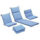 Outdoor Patio Cushion Collection - Blue/W...