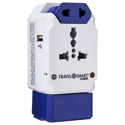 Travel Smart Multi Plug - White