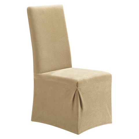 sure fit stretch pique long dining room chair slipcover product