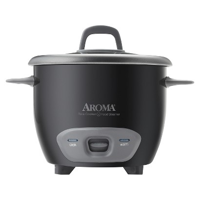AROMA 6-CUP RICE COOKER & FOOD STEAMER