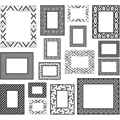WallPops® by Jonathan Adler Photo Frames Kit - Black/White