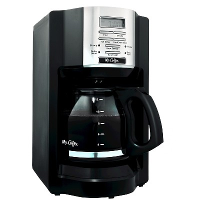 MR. COFFEE® BLACK 12-CUP PROGRAMMABLE COFFEEMAKER