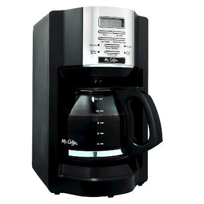 Mr. Coffee® Black 12-Cup Programmable Coffeemaker