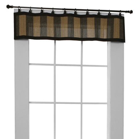 Versailles Bamboo Ring Top Window Valance