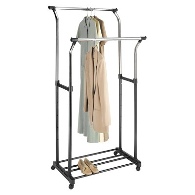 Whitmor Double Rod Adjustable Garment Rack