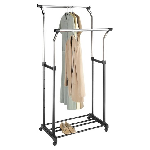Whitmor Double Rod Adjustable Garment Rack : Target
