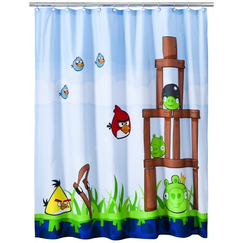 Angry Bird Shower Curtain - 72x72""