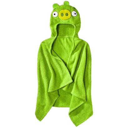 "Angry Birds Hooded Towel - Green (23x51"")"