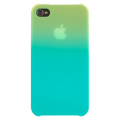 Belkin Ultra Thin Fade Two Tone Case for iPhone4 - Lime/Blue (F8W057ebC01)