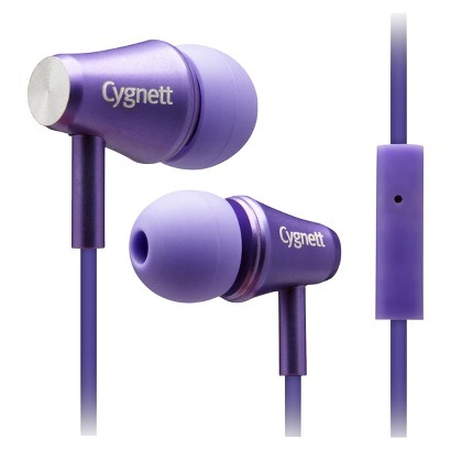 Cygnett Fusion II Earbuds with Mic for iPod, iPad and MP3 Players Purple