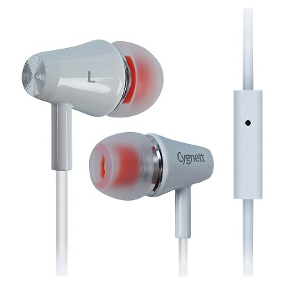 Cygnett Fusion II Earbuds with Mic for iPod, iPad and MP3 Players - Orange (CY0567HEFUS)