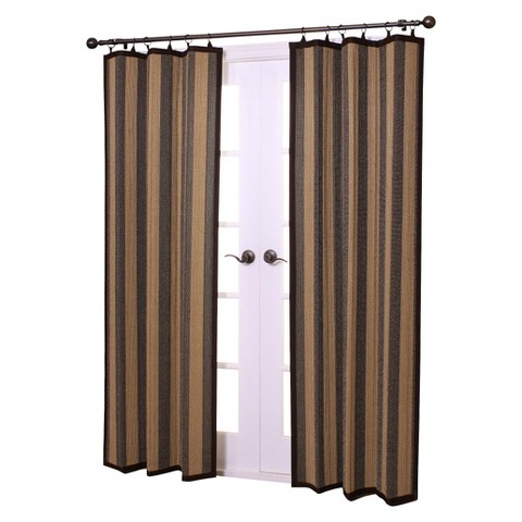 Versailles Bamboo Ring Top Curtain Panel