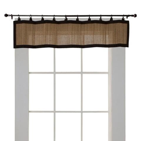 Versailles Bamboo Ring Top Window Valance