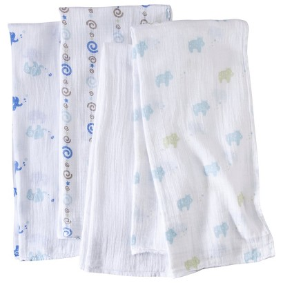 aden + anais jungle jive Cotton Muslin Swaddles 4 Pack
